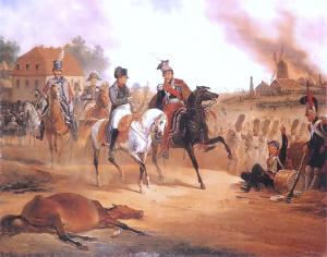 Napoleon und Poniatowski während der Völkerschlacht in Stötteritz bei Leipzig, Foto: Wikimedia