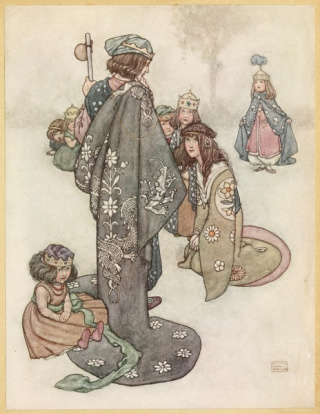 Illustration in Hans Andersens fairy tales (1913 W. Heath)
