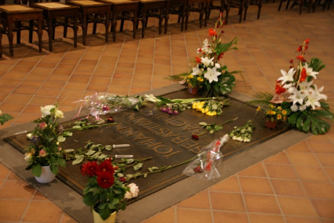 Bachs Grab in der Thomaskirche (4)